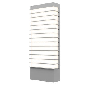 Tawa Textured Gray 21-Inch Wide LED Sconce