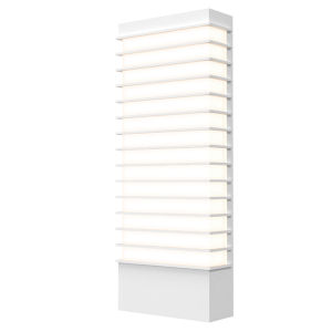 Tawa Textured White 21-Inch Wide LED Sconce