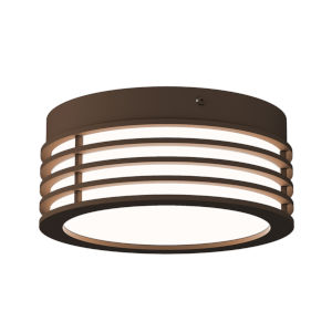 Marue Textured Bronze 8-Inch Round LED Flush Mount