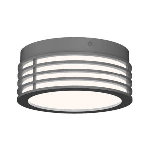 Marue Textured Gray 8-Inch LED Flush Mount