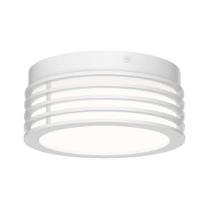Marue Textured White 8-Inch LED Flush Mount