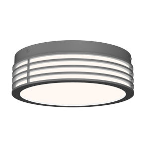 Marue Textured Gray 11-Inch Round LED Flush Mount