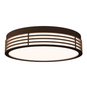 Marue Textured Bronze 15-Inch Round LED Flush Mount