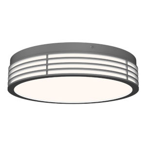 Marue Textured Gray 15-Inch Round LED Flush Mount
