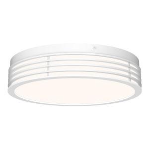 Marue Textured White 15-Inch Round LED Flush Mount