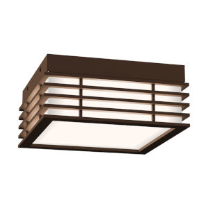 Marue Textured Bronze 8-Inch Square LED Flush Mount