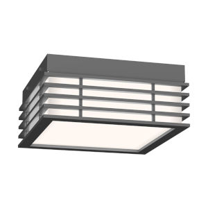 Marue Textured Gray 8-Inch Square LED Flush Mount