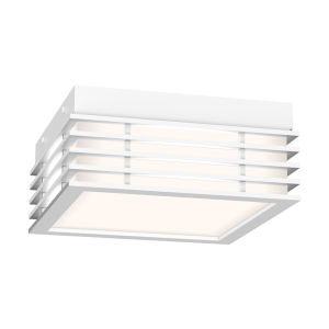 Marue Textured White 8-Inch Square LED Flush Mount