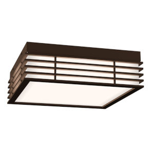 Marue Textured Bronze 11-Inch Square LED Flush Mount