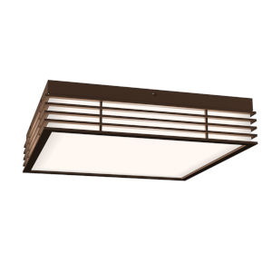 Marue Textured Bronze 15-Inch Square LED Flush Mount