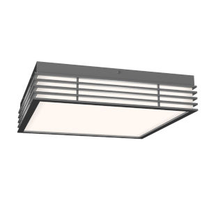 Marue Textured Gray 15-Inch Square LED Flush Mount