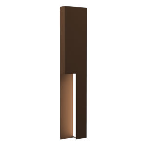 Incavo Textured Bronze 30-Inch Two-Light LED Sconce
