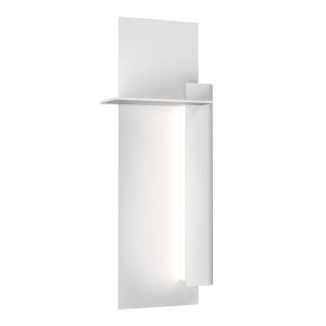 Backgate Textured White 20-Inch Right LED Sconce
