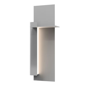 Backgate Textured Gray 20-Inch Left LED Sconce