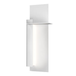 Backgate Textured White 20-Inch LED Sconce