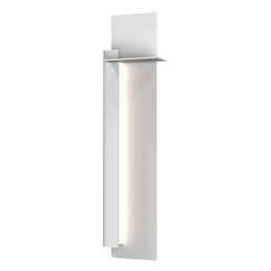 Backgate Textured White 30-Inch LED Sconce