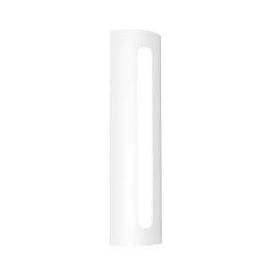 Porta Textured White 18-Inch LED Sconce
