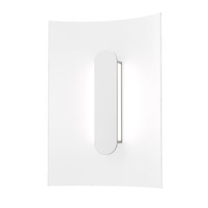 Tairu Textured White 8-Inch LED Sconce
