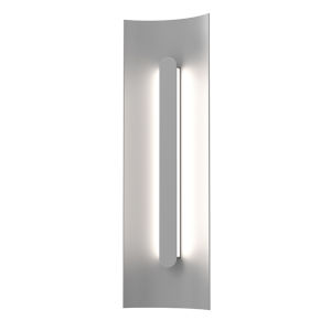 Tairu Textured Gray 18-Inch LED Sconce