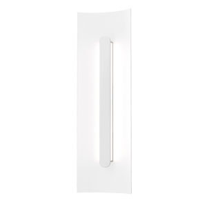 Tairu Textured White 18-Inch LED Sconce