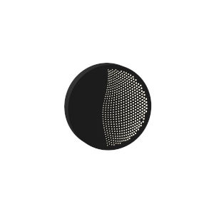Dotwave Textured Black Small Round LED Sconce
