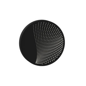 Dotwave Textured Black Medium Round LED Sconce