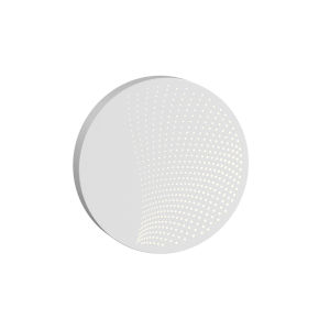 Dotwave Textured White Medium Round LED Sconce