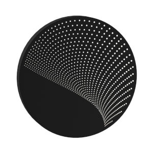 Dotwave Textured Black Large Round LED Sconce