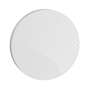 Dotwave Textured White Large Round LED Sconce