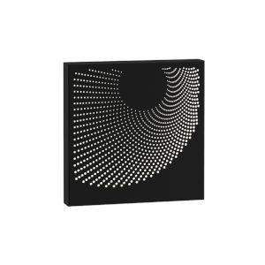 Dotwave Textured Black Square LED Sconce