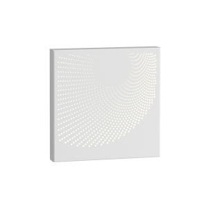 Dotwave Textured White Square LED Sconce