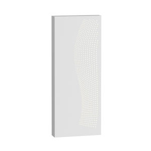Dotwave Textured White Rectangle LED Sconce