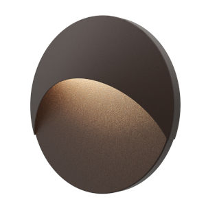 Ovos Textured Bronze Round LED Sconce