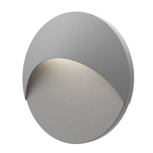Ovos Textured Gray Round LED Sconce