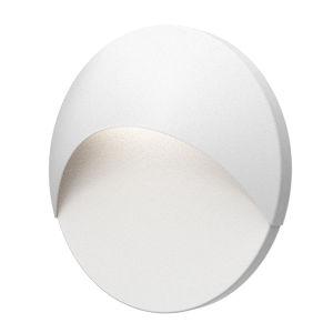 Ovos Textured White Round LED Sconce
