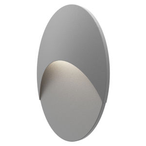 Ovos Textured Gray Oval LED Sconce