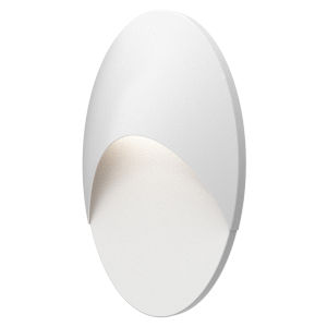 Ovos Textured White Oval LED Sconce