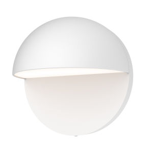 Mezza Cupola Textured White 5-Inch LED Sconce