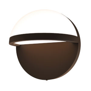 Mezza Vetro Textured Bronze 5-Inch LED Sconce
