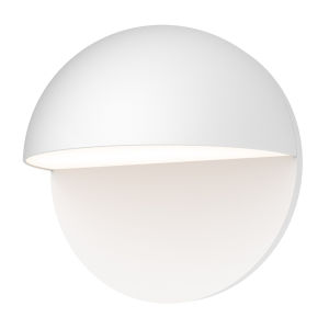 Mezza Cupola Textured White 8-Inch LED Sconce