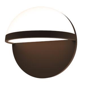 Mezza Vetro Textured Bronze 8-Inch LED Sconce