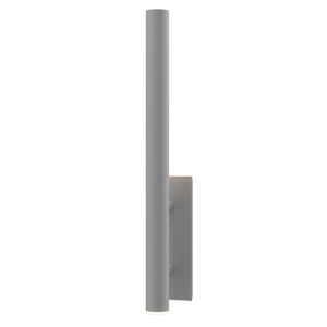 Flue Textured Gray 30-Inch LED Sconce