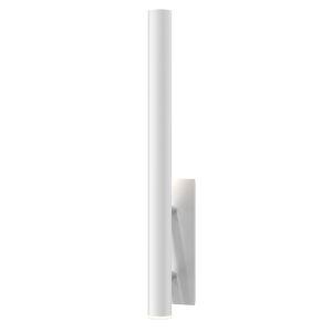 Flue Textured White 30-Inch LED Sconce