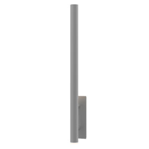Flue Textured Gray 40-Inch LED Sconce