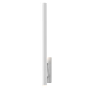 Flue Textured White 40-Inch LED Sconce