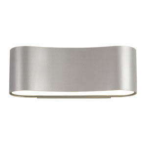 Corso Bright Satin Aluminum LED Wall Sconce with White Glass Diffuser