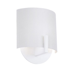 Scudo Satin White One-Light Wall Sconce