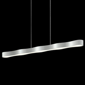 Corso Linear Bright Satin Aluminum LED Linear Pendant
