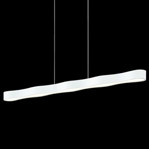 Corso Linear Textured White LED Linear Pendant