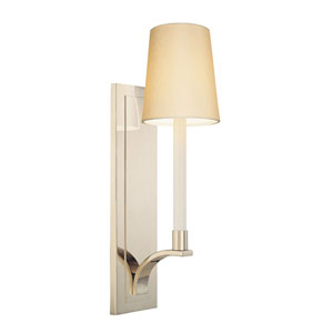 Curva Polished Nickel One-Light Wall Sconce